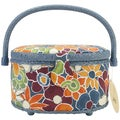Prym Sewing Basket Oval-Dark Floral