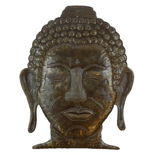 Recycled Steel Drum Peaceful Buddha Metal  Wall Art (Haiti)