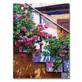 David Lloyd Glover 'Stairway Floral' Canvas Art
