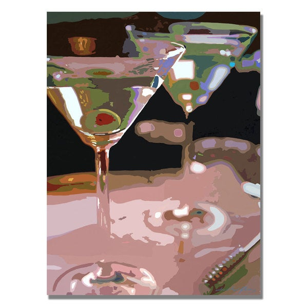 David Lloyd Glover 'Two Martini Lunch' Canvas Art