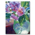 David Lloyd Glover 'Pink Flowers in Green Vase' Canvas Art