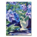 David Lloyd Glover 'Lavendar Hydrangeas' Canvas Art
