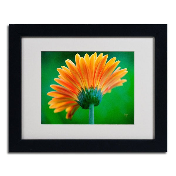 Lois Bryan 'Orange Burst' Framed Matted Art