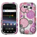 BasAcc Pink and Purple Circles Diamante Case for Samsung NXS Nexus S