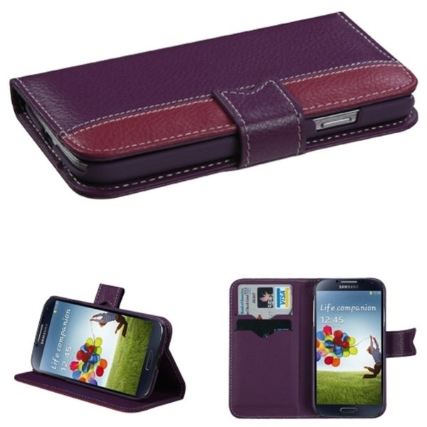 INSTEN Book-Style Wallet Phone Case Cover for Samsung Galaxy S4