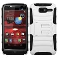 BasAcc White/ Black Case with Stand for Motorola XT907 Droid Razr M