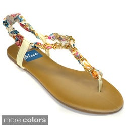 Blue Women's T-chain Sandal