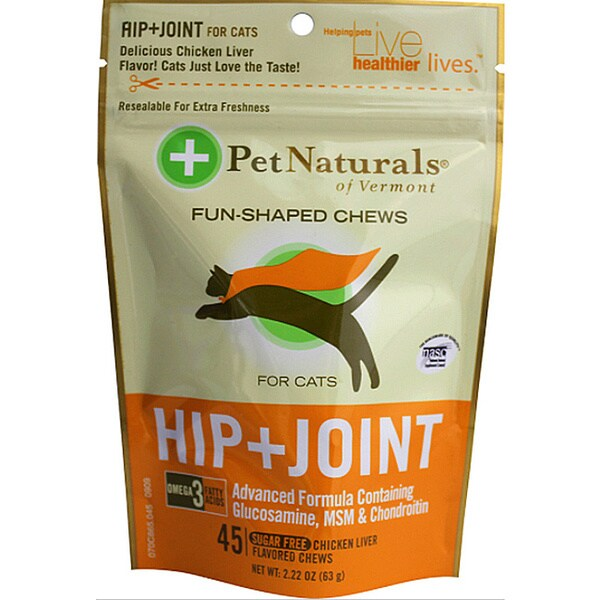 Pet Naturals of Vermont Cat Hip/ Joint Fun-shaped Chews