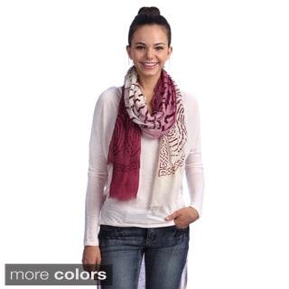 Merino Wool Printed Ombre Wrap