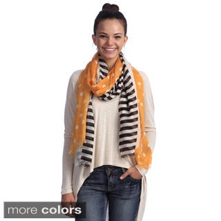 Women's Polka Dots With Stripes Scarf