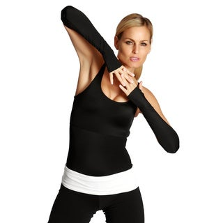 InstantFigure Black Compression Long Wrist Guards (1 pair)