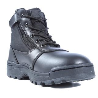 Dura-Max Men's Black Leather Mid-zipper Composite Toe Work Boots