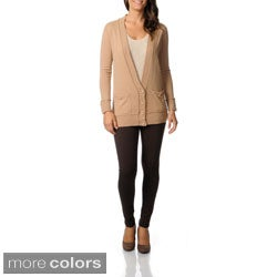 Ply Cashmere Women's V-neck Boyfriend Cardigan
