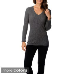 Ply Cashmere Women's V-neck Cashmere Sweater