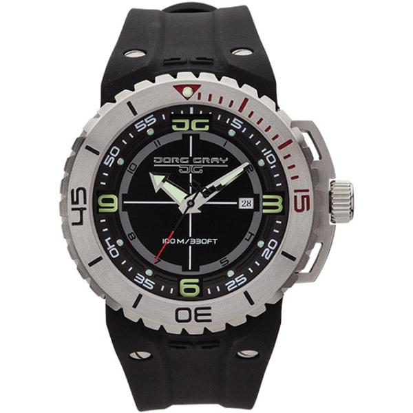 Jorg Gray Men's Black Dial Swiss Quartz Watch
