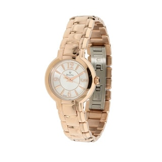 Bulova Women's White MOP Dial Dress Watch