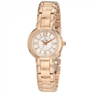 Bulova Women's 97L122 Rosetone Bracelet Dress Watch