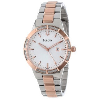 Bulova Women's Diamond-accented Two-tone Watch