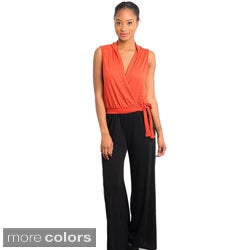 Stanzino Women's Two-tone Wide Leg Jumpsuit