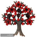 Bronzetone Crystal 'Tree in Full Bloom' Brooch