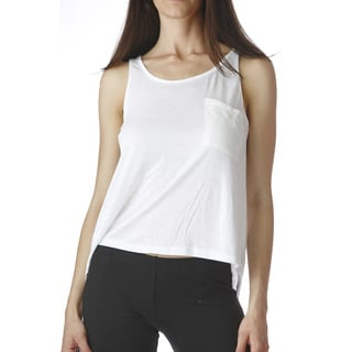 Stanzino Women's White Asymmetric Hem Tank Top