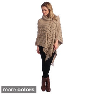 Women's Knit Turtleneck Poncho
