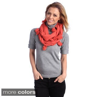 Women's Tassel Accent Infinity Scarf