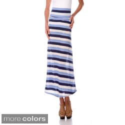 Stanzino Women's Striped Maxi Skirt