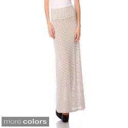 Stanzino Women's Striped High-waist Maxi Skirt