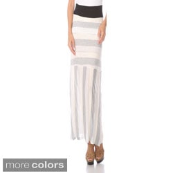 Stanzino Women's Multi-stripe Banded Maxi Skirt