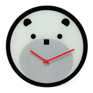 Bearly Time Decorative Glass Wall Clock