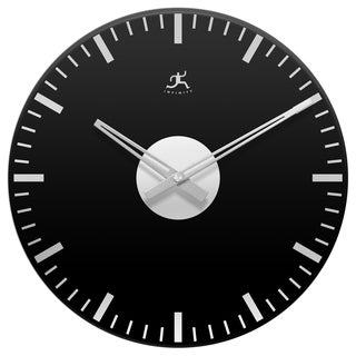 Black Night Mirrored Open Face Wall Clock