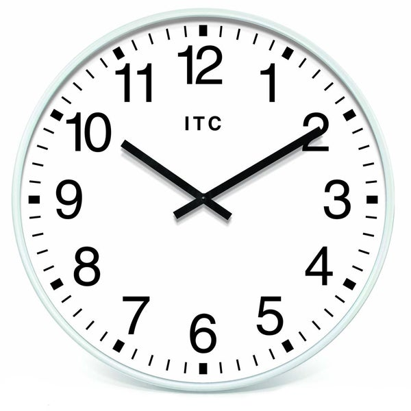 Profuse 19-inch White Resin Wall Clock