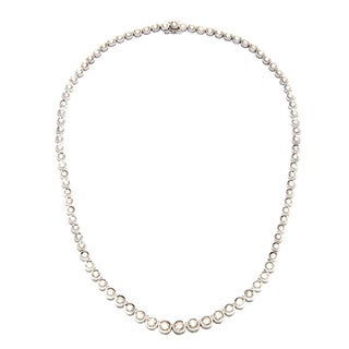 18k Gold 10 1/2ct TDW Diamond Riviera Estate Necklace (I-J, SI1-SI2)