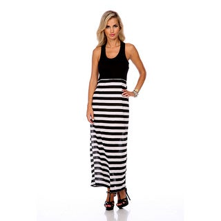 Stanzino Women's Striped Skirt Maxi Dress