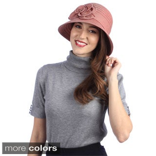 Swan Women's All-Year-Round Denim Ribbon Packable Hat