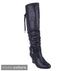 Intouch Women's 'Zelda-1' Knee-high Wedge Boots