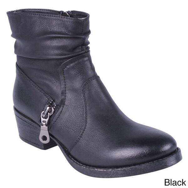 Women's 'Merride-5' Chunky Heel Ankle Booties