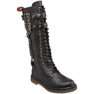 Demonia Men's 'Disorder-403' Black Double Cuff Combat Boots