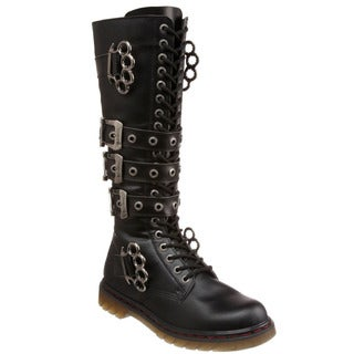 Demonia Men's 'Disorder-402' Black Hardware Combat Boots