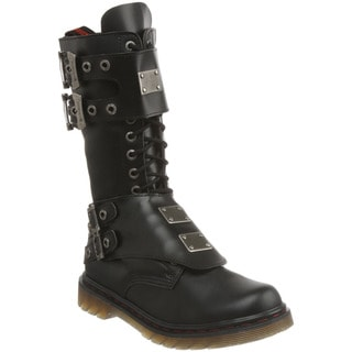 Demonia Men's 'Disorder-302' Black Steel Plate Motorcycle Boots