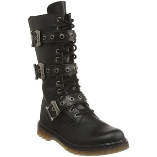 Demonia Men's 'Disorder-303' Black Strappy Motorcycle Boots