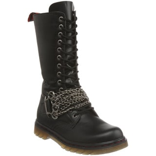 Demonia Men's 'Disorder-301' Black Chained Motorcycle Boots