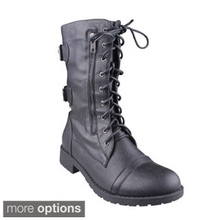 Refresh Women's 'Terra-09' Mid-calf Combat Boots