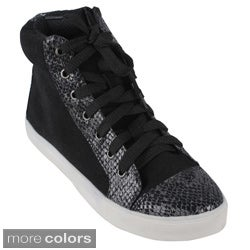 Dbdk Women's 'Rebecca-1' Faux Snake-skin Accent Sneakers