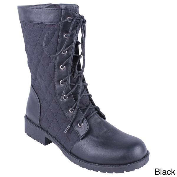 Quilted Combat Boots Quilted Combat Boots