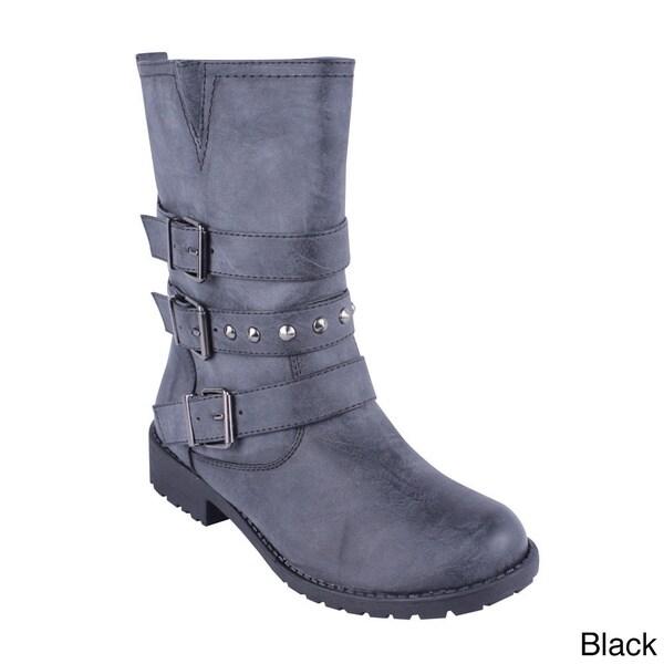 DBDK Women's 'Sotila-9' Triple Banded Mid-calf Boots