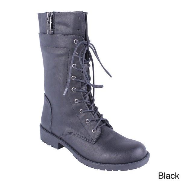 DBDK Women's 'Sotila-7' Mid-calf Combat Boots
