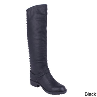 DBDK Women's 'Lenicia-4' Pyramid Stud Accent Knee-high Riding Boots