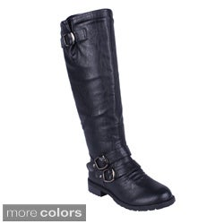 Elegant Women's 'Dillian-9' Buckle Accent Riding Boots